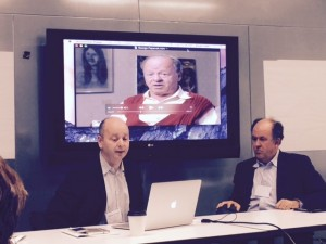 """Stephen Smith and Michael Abramowitz, presenters during the March 10 session, """"The Future of Holocaust Education"""""""