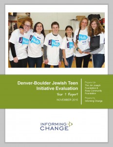 Denver-Boulder Jewish Teen Initiative Evaluation - Year 1 Final Report_Page_01