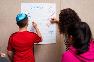 Teens writing